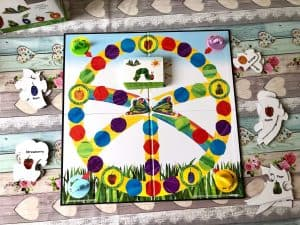 The Very Hungry Caterpillar board game - Pieces