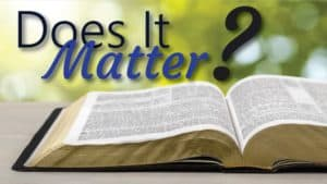 Does bible knowledge really matter