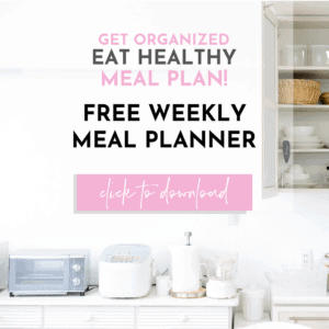 healthy weekly meal planner