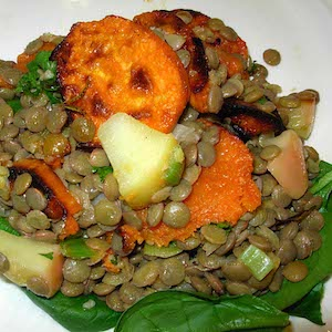 Lentil Sweet Potato Salad