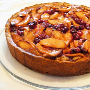 Apple Cranberry Tart, beautiful and delicious.