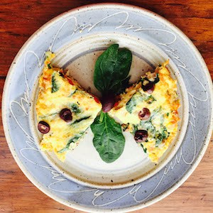 Spinach Red Pepper Frittata