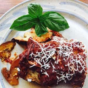 Eggplant Gina, a delicious baked eggplant dish.
