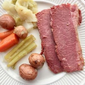 Instant Pot Corned Beef Dinner.
