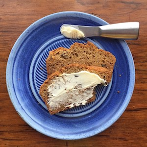 My Favorite Banana Bread is gluten free, but you can make it with wheat if you prefer.