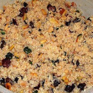 Quinoa Fruit and Nut Salad. Super good.