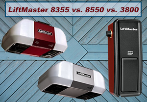 LiftMaster 8355 vs. 8550 vs. 3800