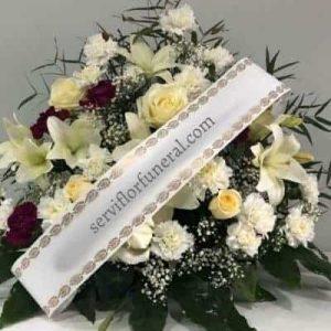 centro de flores funerario Leal
