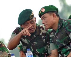 Jenderal Gatot Nurmantyo bersama Jenderal Moeldoko