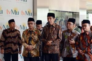 Presiden Jokowi saat berkunjung ke PP Muhammadiyah, di Jakarta, Selasa (8/11) pagi. (Foto: Humas/Jay)