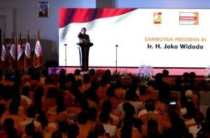 Presiden Jokowi dalam acara