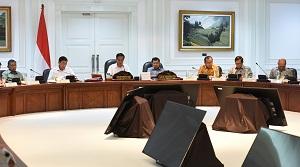 Presiden Jokowi pimpin Rapat Terbatas membahas Kebijakan Pemerataan Ekonomi di Kantor Presiden, Jakarta (7/2). (Foto: Humas/Rahmat)