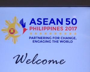 Logo peringatan 50 tahun ASEAN