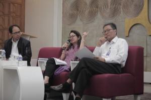 Konferensi pers mengenai perubahan Bapertarum PNS menjadi BP Tapera di Jakarta, Kamis (23/3).