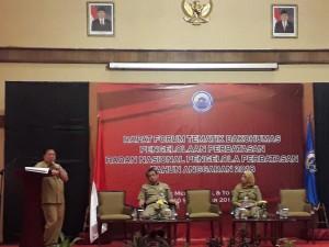 Suasana diskusi dalam Forum Tematik Bakohumas BNPP di Hotel Media, Jakarta, Senin (10/9). (Foto: Humas/Edi)