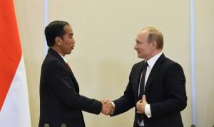 Presiden Jokowi dan Presiden Rusia Vladimir Putin. (Foto: Dokumentasi Humas Setkab)
