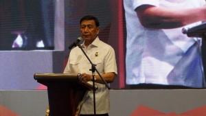 Menko Polhukam Wiranto menyampaikan arahan pada dalam rapat koordinasi Pengendalian Pengelolaan Perbatasan Negara Tahun 2019, di Jakarta, Senin (28/1).