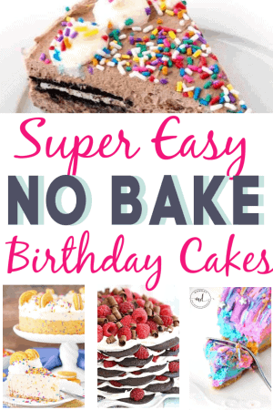 Super Easy No Bake Birthday Cake ideas