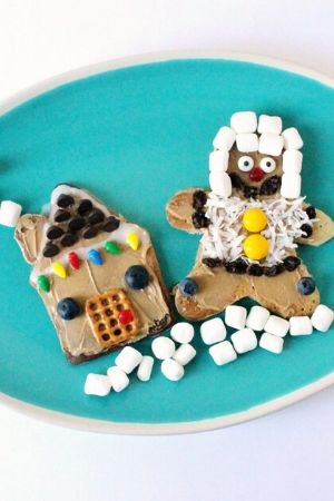 Gingerbread House Christmas Pancakes for Kids