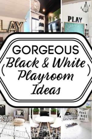 Black and White Kids Playroom Ideas - Gender Neutral
