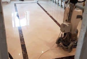Polishing Limestone floor1