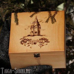 Подарочный кедровый короб «Часовня Параскевы Пятницы»