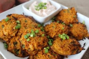 Baked Sweet Potato Fritters Feature