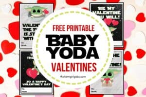 "These Free Printable Mandalorian Baby Yoda Valentines are out of this world. If you are a fan of ""The Child"" or Baby Yoda from the Disney Plus Series The Mandalorian, then this is the perfect Valentine's Day Craft to share. Download and share with friends this Valentine's Day. I have spoken. #babyyoda #valentines #starwarscraft #freeprintablevalentines #kidscraft #disneyplus #Disney+ #themandalorian"