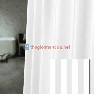 Rèm nhà tắm sọc màu trắng