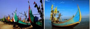 Fishing Boats at Cox's Bazar (Image Courtesy: (YWAM Frontier Missions and Travel around Bangladesh)
