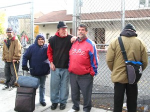 Homeless at St. Francis Inn, Kensington section of Phialdelphia. They were given new socks by The Joy of Sox.