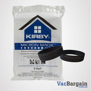 Two Genuine Kirby Belts + 6 Genuine Kirby Micron Bags 6 PK For All Kirby Models