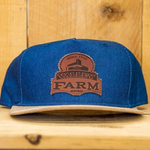 Blue & Tan Logo Snap - Front