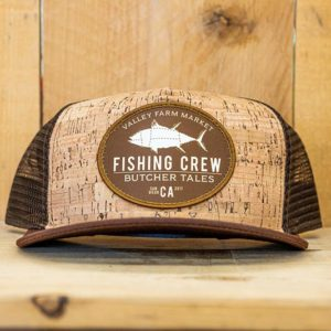 Brown Cork Fishing Mesh Snap - Front