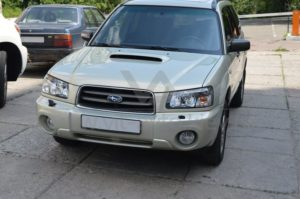 Полировка фар на Subaru Forester фото 2