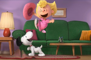 Snoopy and Sally. The Peanuts Movie
