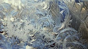 Winter pattern on the window