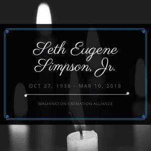 Seth Eugene Simpson, Jr Obituary