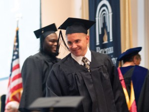 """Nemecek graduated in May not only as a Brenau student but also as an always cheerful and always helpful member of the university maintenance staff. Says one dean at Brenau, he is the """"go-to-guy"""" for getting things done."""