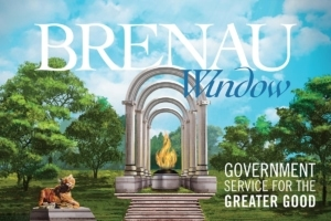 "Brenau Window, Fall 2017 cover image, ""Government for the Greater Good"""