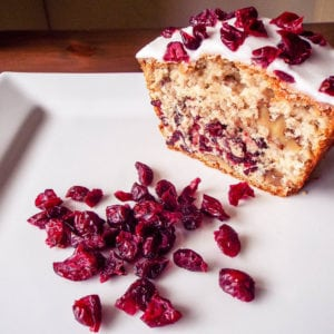 Cranberry & Walnut Cake - Easy cake recipe with cranberries and walnut. This is very easy to make and is very tasty | AmateurChef.co.uk