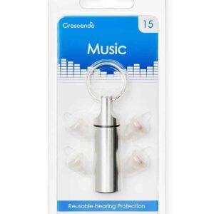 Muziek gehoorbescherming met 15 dB demping