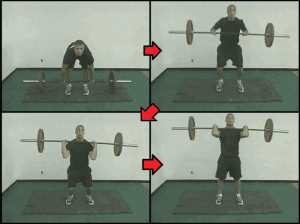 baseball strength training 3 power cleans