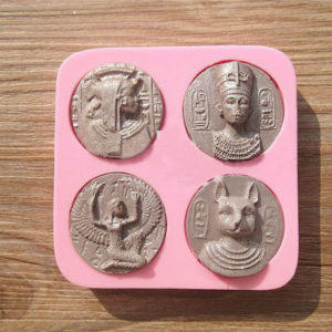 Pharaoh Coin Shape Fondant Paste Commemorative Medal Pressing