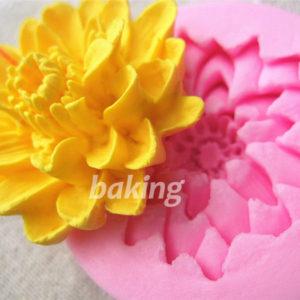 Lotus flower Shape Fondant Paste Pressing