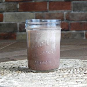 protein powder drink in jar