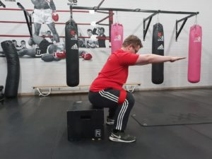 Box Squat fysiotherapie