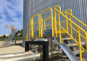 Metal Crossover Stairs for Petroleum