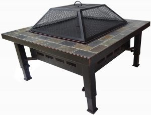 Global Outdoor Square Fire Pit Table