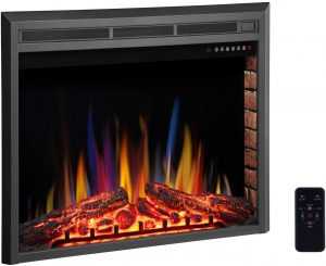 """R.W.FLAME 36"""" Electric Fireplace Insert ,Recessed Electric Stove"""